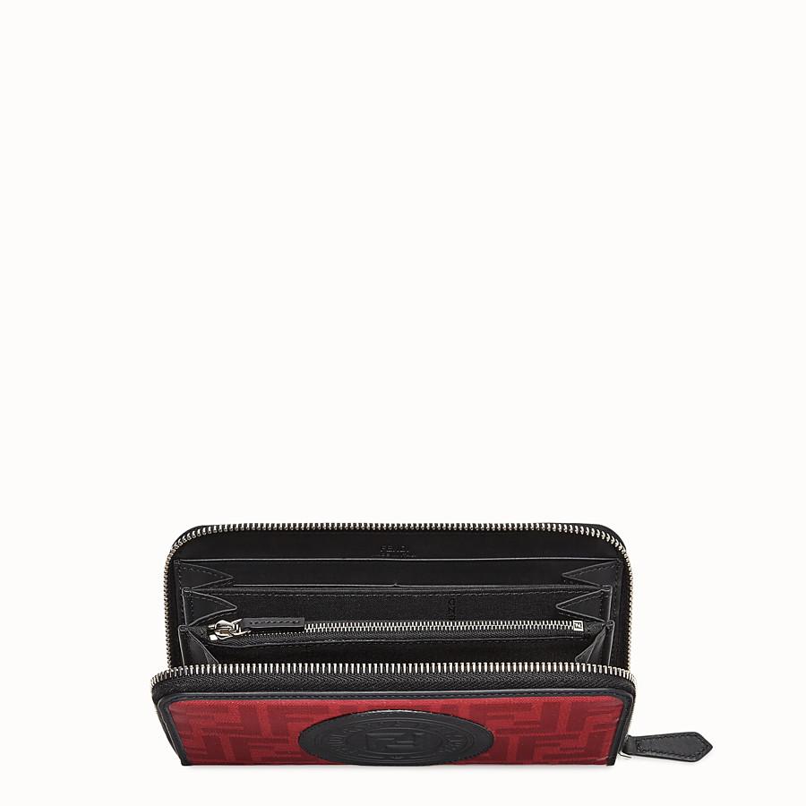 FENDI ZIP-AROUND - Red fabric wallet - view 3 detail