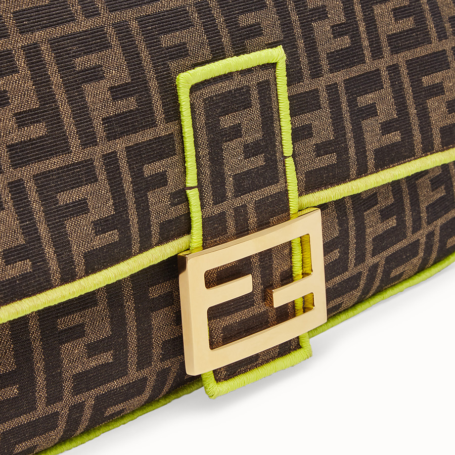 FENDI BAGUETTE LARGE - Fendi Roma Amor fabric bag - view 5 detail