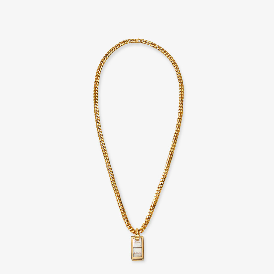 FENDI SIGNATURE NECKLACE - Gold-colored necklace - view 1 detail