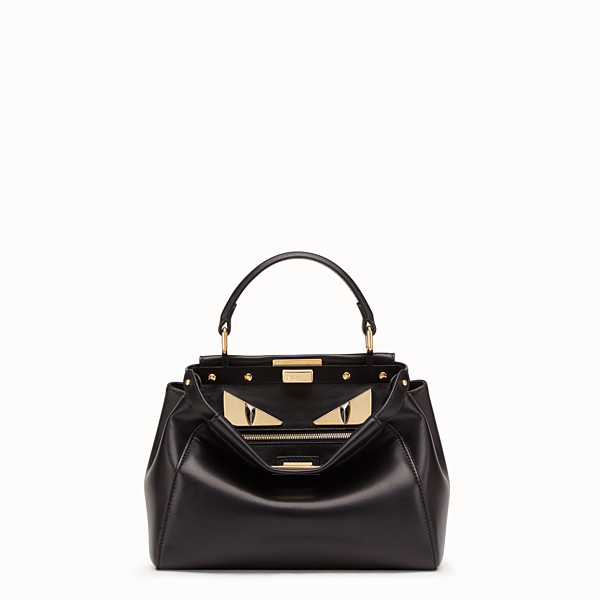 FENDI PEEKABOO ICONIC MINI - Black leather bag - view 1 small thumbnail
