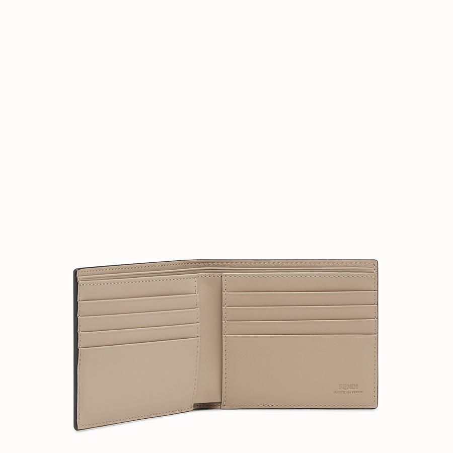 FENDI WALLET - Black leather bi-fold - view 3 detail