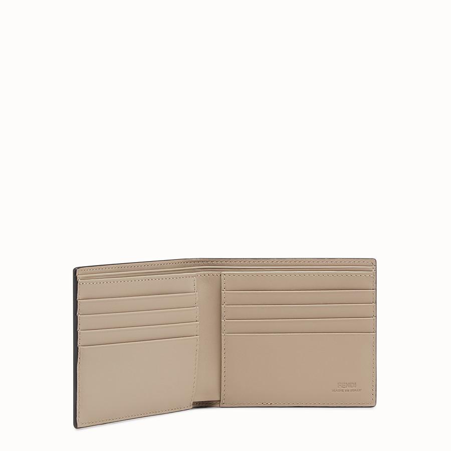 FENDI WALLET - ブラックレザー 二つ折り財布 - view 3 detail