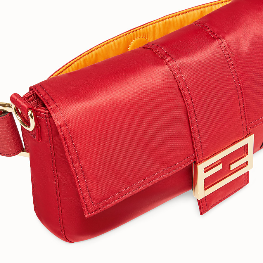 FENDI BAGUETTE FENDI AND PORTER - Red nylon bag - view 5 detail