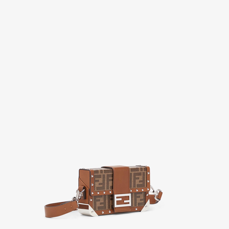 FENDI BAGUETTE TRUNK MINI - Brown fabric bag - view 2 detail