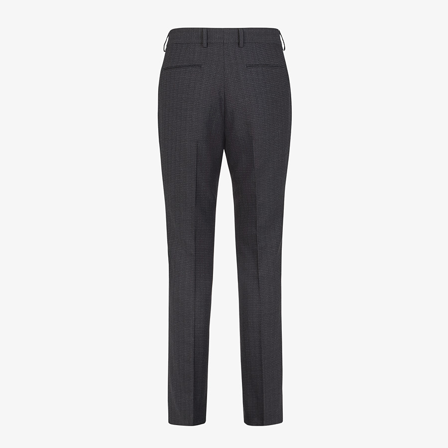 FENDI PANTS - Pants in black cotton, silk and wool - view 2 detail