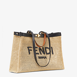 FENDI PEEKABOO X-TOTE - Natural raffia bag - view 2 thumbnail
