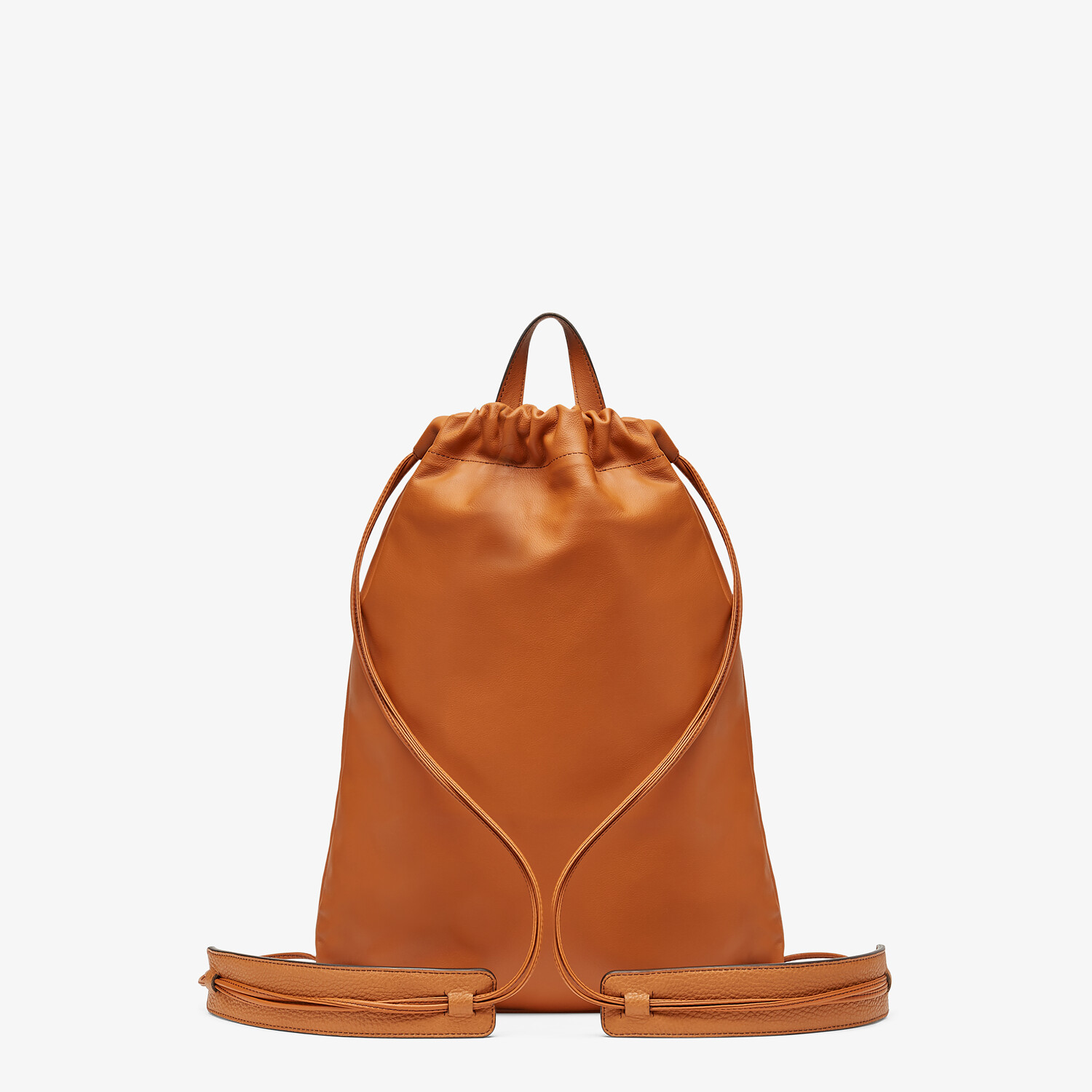 FENDI BACKPACK - Brown leather backpack - view 3 detail