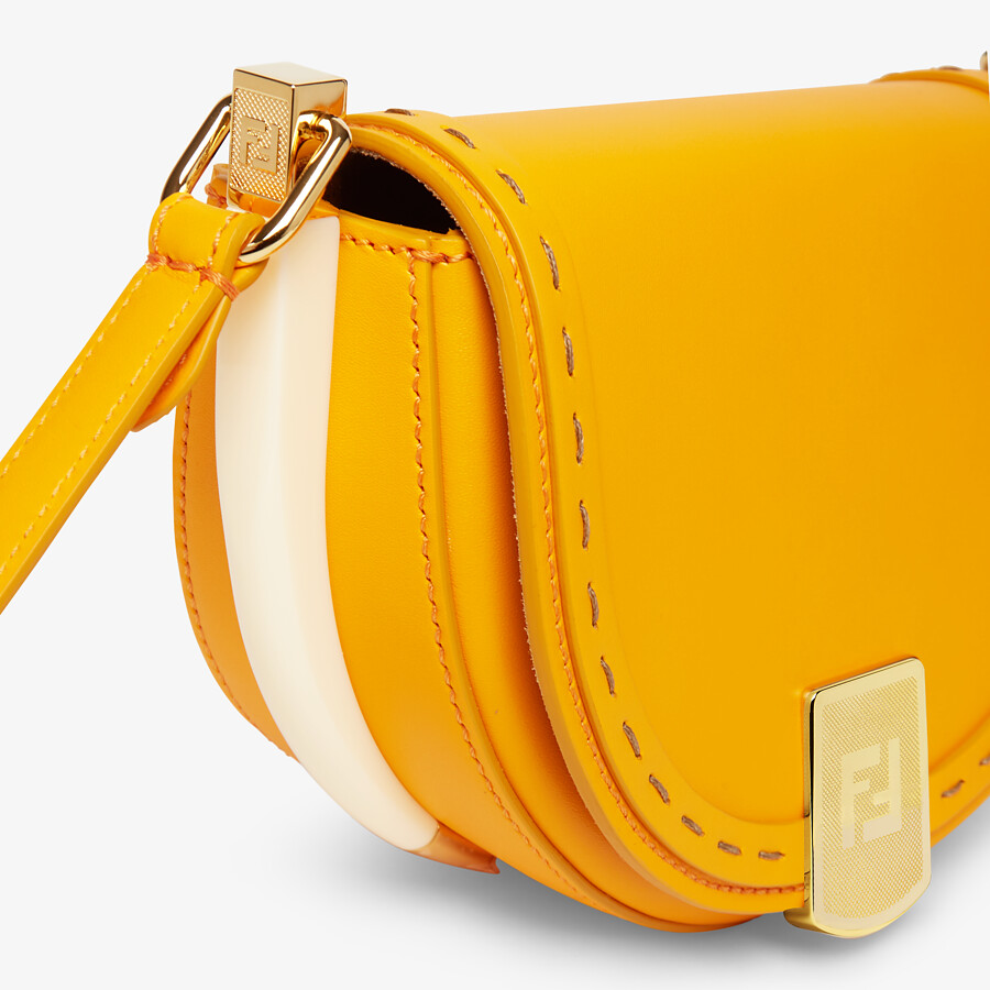 FENDI MOONLIGHT - Orange leather bag - view 6 detail