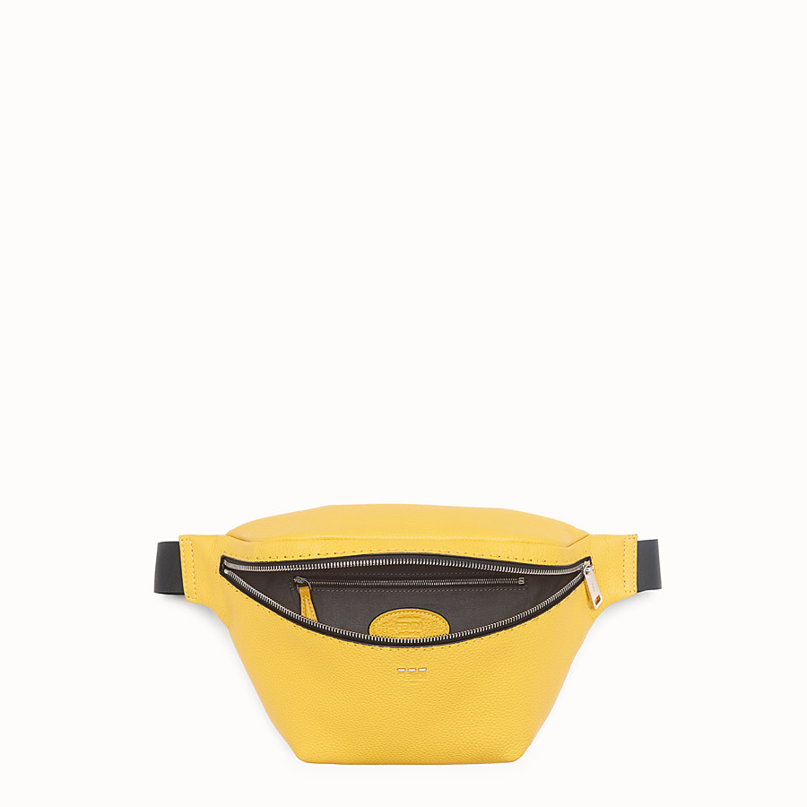 FENDI BELT BAG - Yellow leather belt bag - view 4 detail