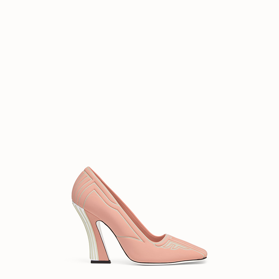 FENDI COURT SHOES - Pink fabric court shoes - view 1 detail