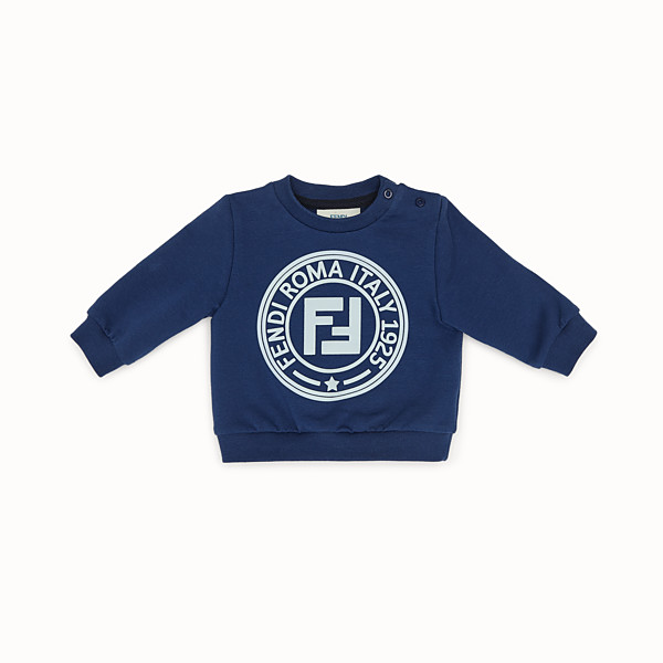FENDI SWEATSHIRT - Blue cotton sweatshirt - view 1 small thumbnail
