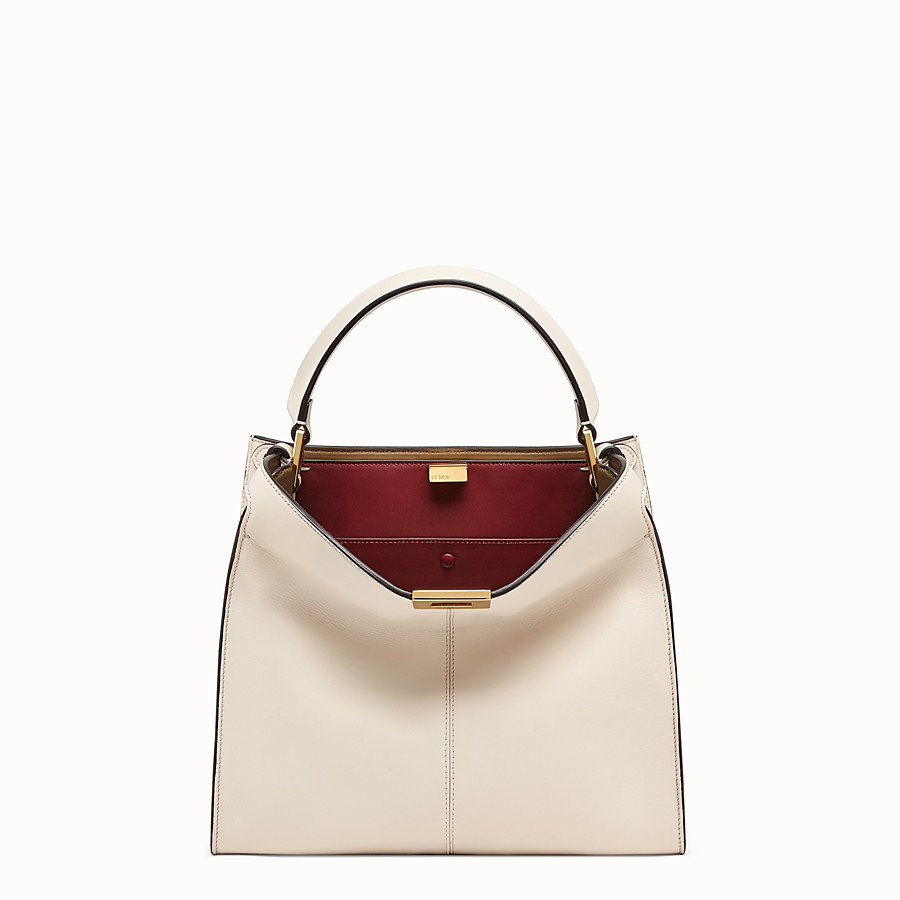 FENDI PEEKABOO X-LITE REGULAR - White leather bag - view 2 detail