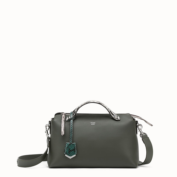 FENDI BY THE WAY REGULAR - Grass green leather Boston bag - view 1 small thumbnail