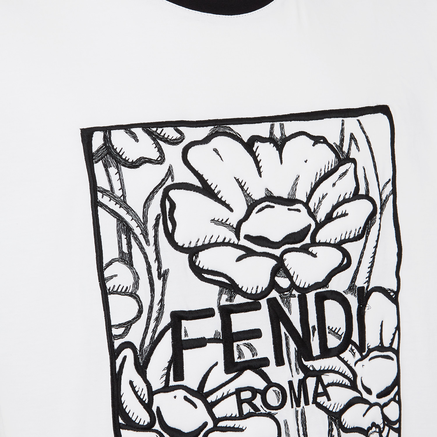 FENDI T-SHIRT - Fendi Roma Joshua Vides cotton T-shirt - view 3 detail