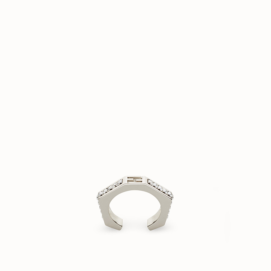 FENDI BAGUETTE RING - Baguette ring with crystals - view 1 detail
