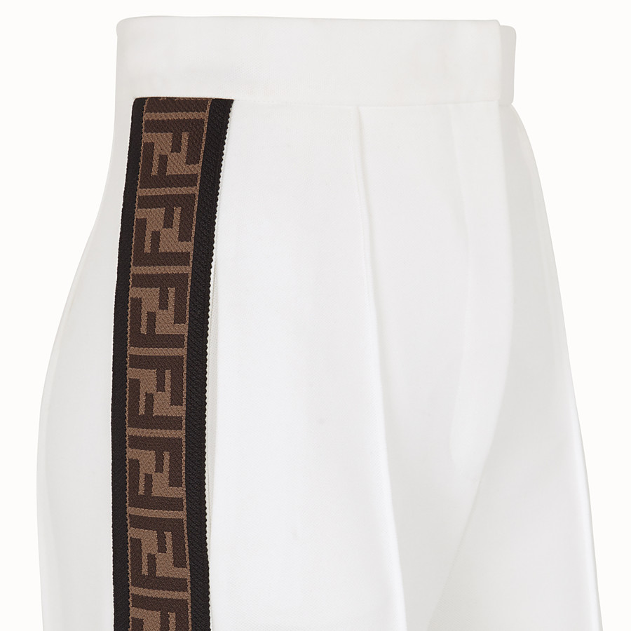 FENDI TROUSERS - White jersey trousers - view 3 detail