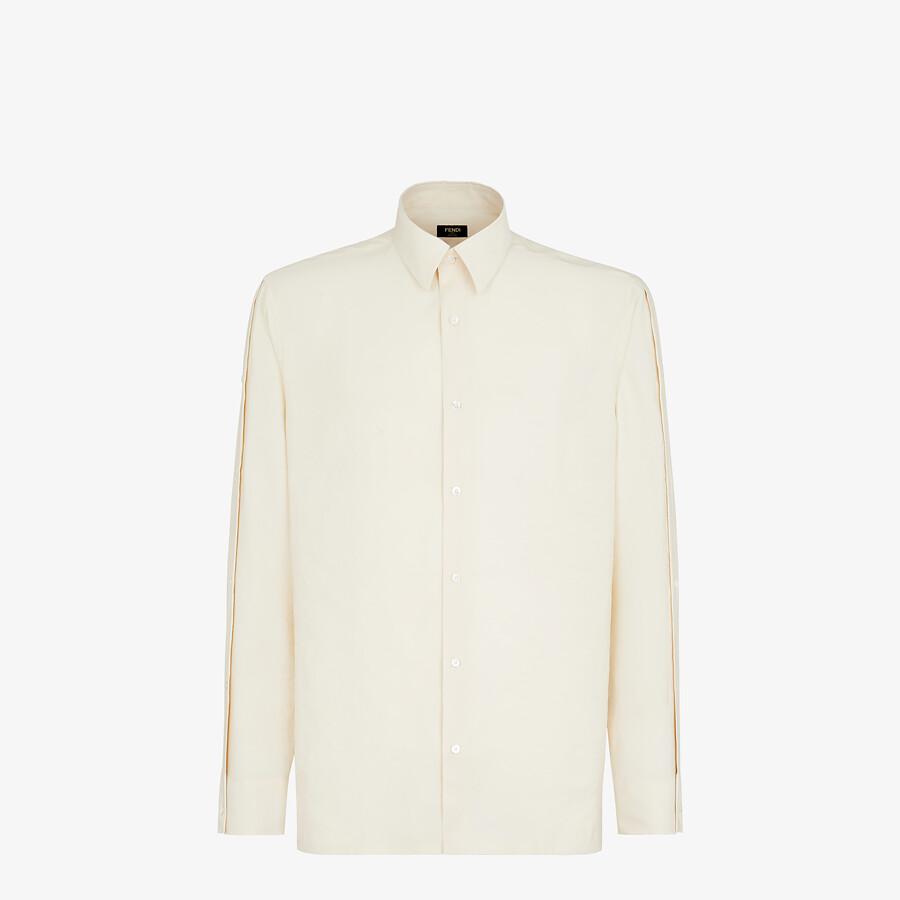 FENDI SHIRT - White tech fabric shirt - view 1 detail