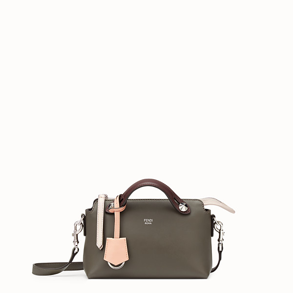 FENDI BY THE WAY MINI - Dark green leather Boston bag - view 1 small thumbnail