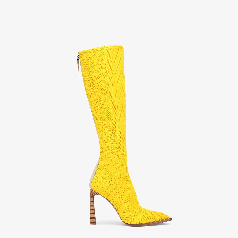 FENDI BOOTS - High-tech yellow jacquard boots - view 1 detail