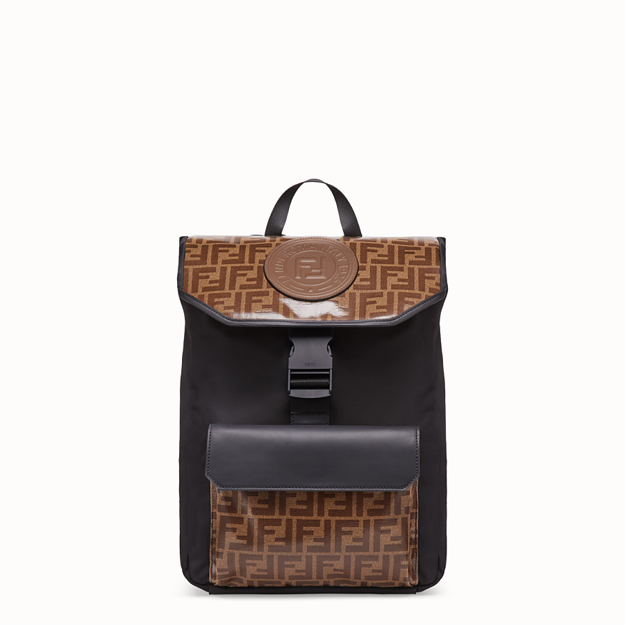 FENDI BACKPACK - Multicolor fabric backpack - view 1 detail