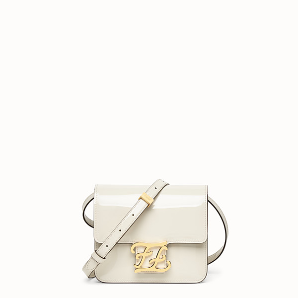 FENDI KARLIGRAPHY - White patent leather bag - view 1 small thumbnail