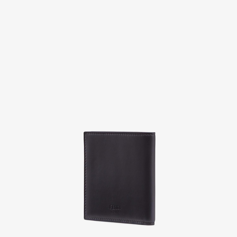 FENDI WALLET - Black calfskin bi-fold wallet - view 2 detail