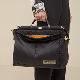 FENDI PEEKABOO MEDIUM FENDI AND PORTER - Black nylon bag - view 6 thumbnail