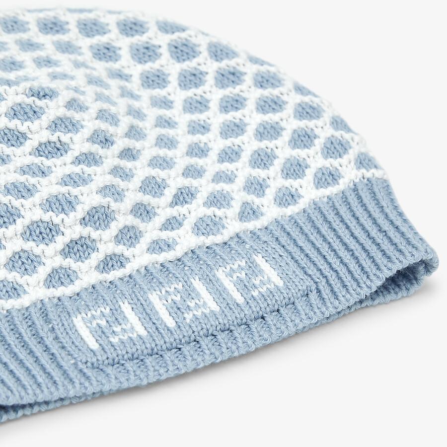 FENDI BONNET POUR BÉBÉ - Bonnet bébé en maille bleu ciel - view 3 detail