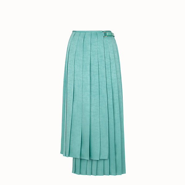 FENDI SKIRT - Aqua green silk skirt - view 1 small thumbnail