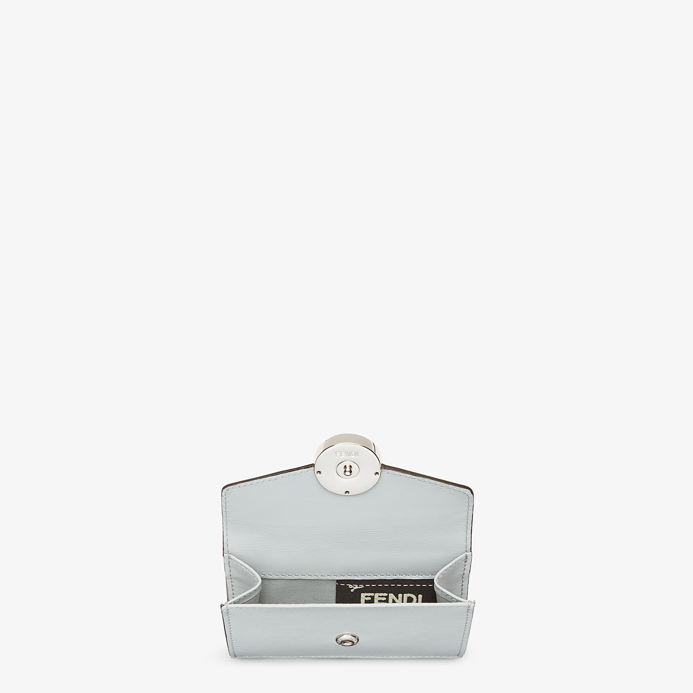 FENDI MICRO TRIFOLD - Grey leather wallet - view 4 detail