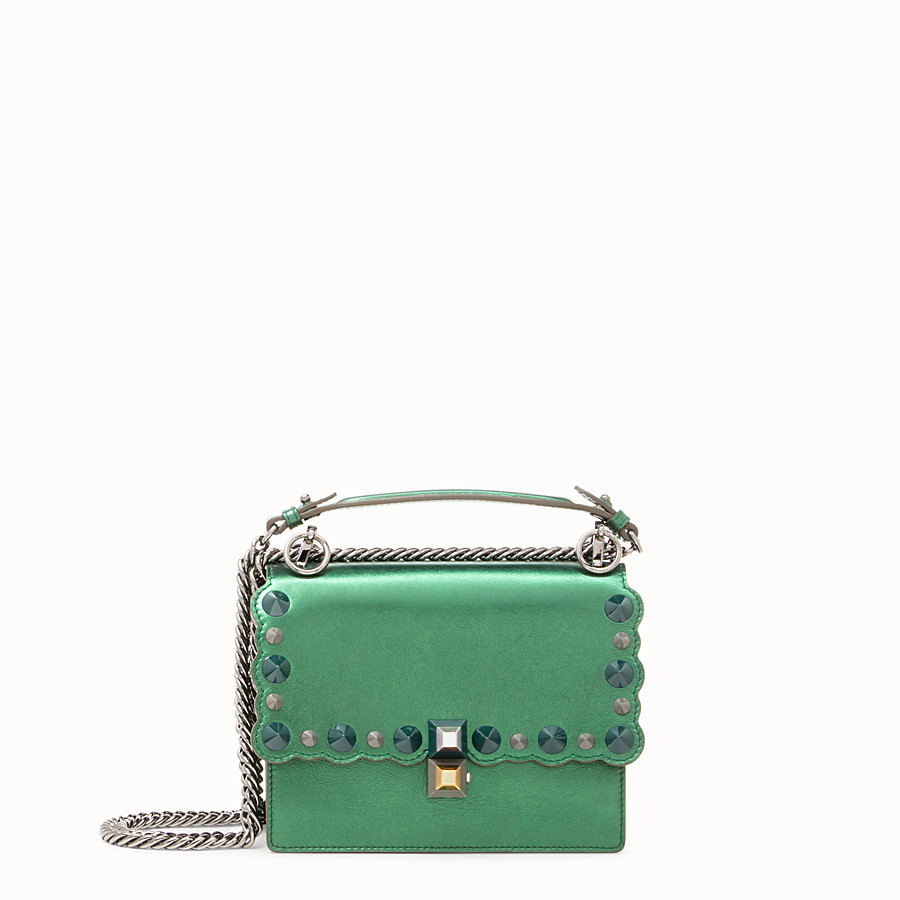 FENDI KAN I SMALL - Green laminated leather mini bag - view 1 detail