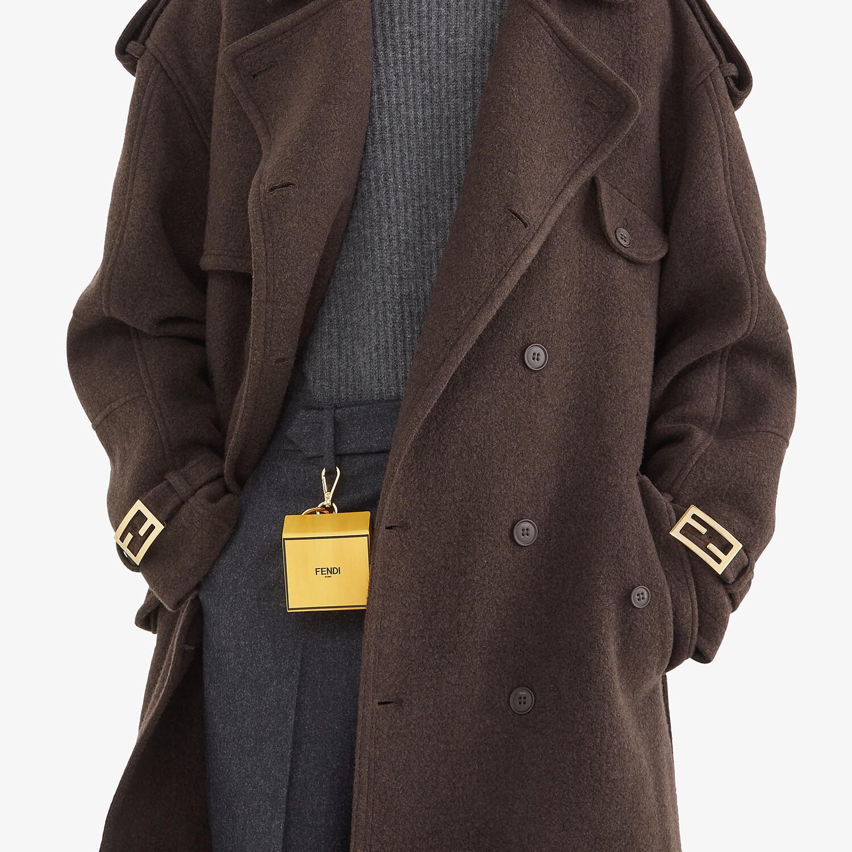 FENDI KEY CHARM - Yellow leather key case - view 4 detail