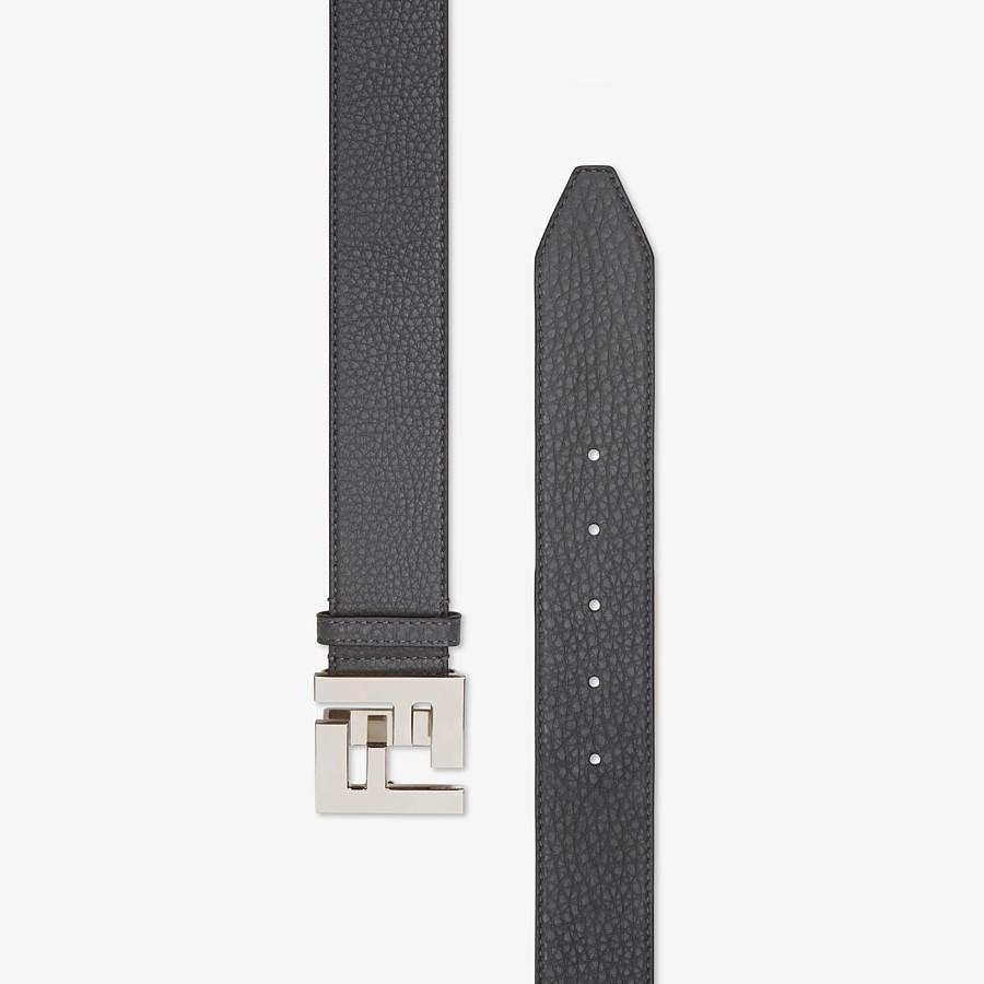 FENDI BELT - Gray leather belt - view 2 detail