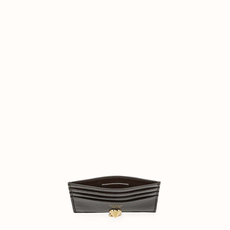 FENDI CARD HOLDER - Black leather card holder with six slots - view 4 detail