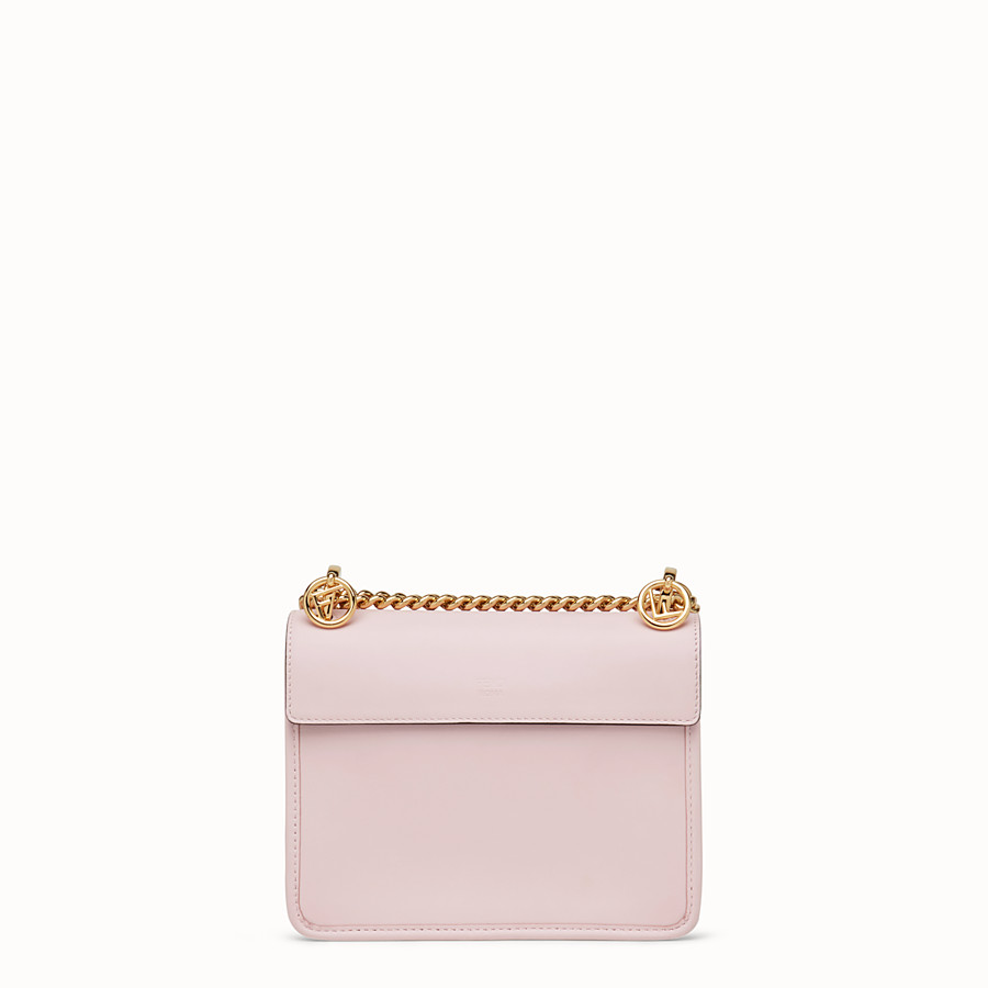 FENDI KAN I F SMALL - Pink leather mini-bag - view 3 detail
