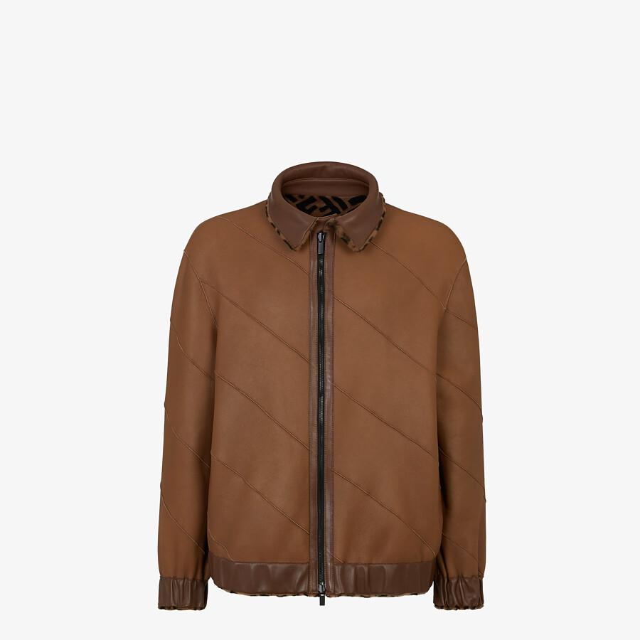 FENDI BLOUSON JACKET - Jacket in brown shearling - view 4 detail