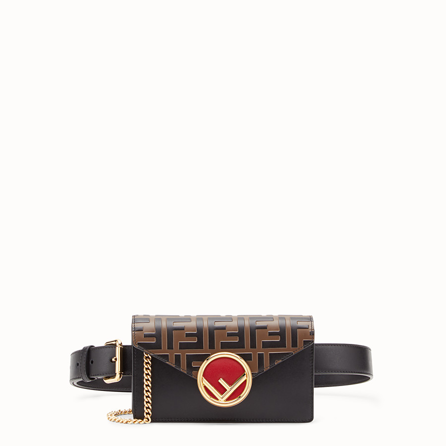 FENDI BELT BAG - Multicolor leather belt bag - view 1 detail