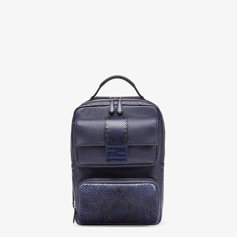 FENDI BACKPACK - Blue calf leather backpack - view 1 detail