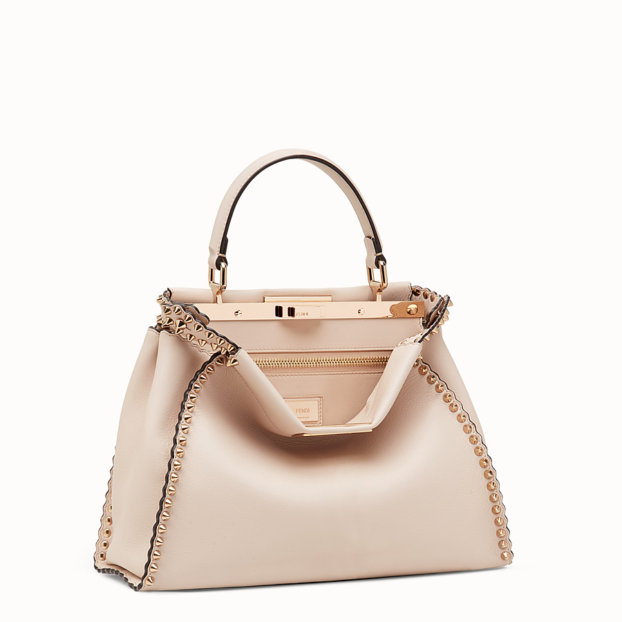 FENDI PEEKABOO REGULAR - Sac en cuir rose - view 2 detail
