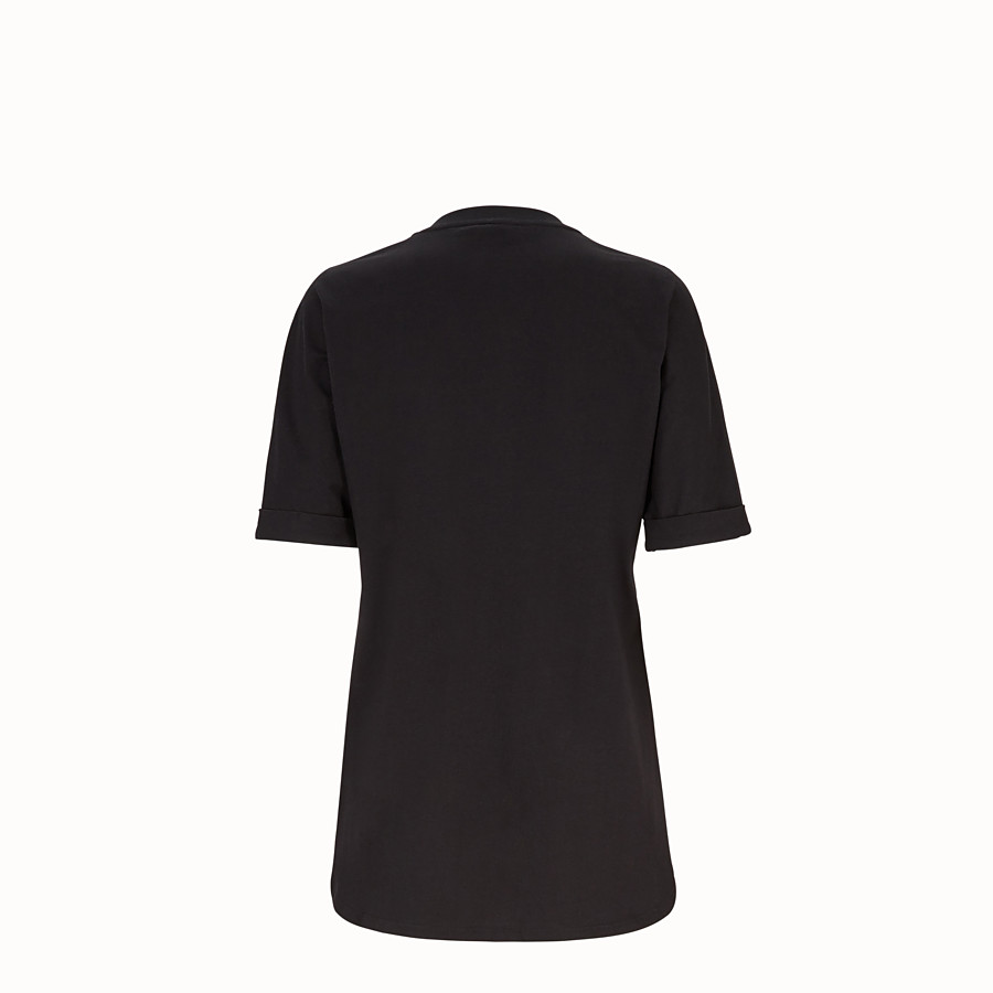 FENDI 티셔츠 - 블랙 코튼 티셔츠 - view 2 detail