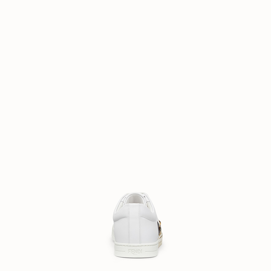 FENDI SNEAKERS - White leather sneakers - view 3 detail