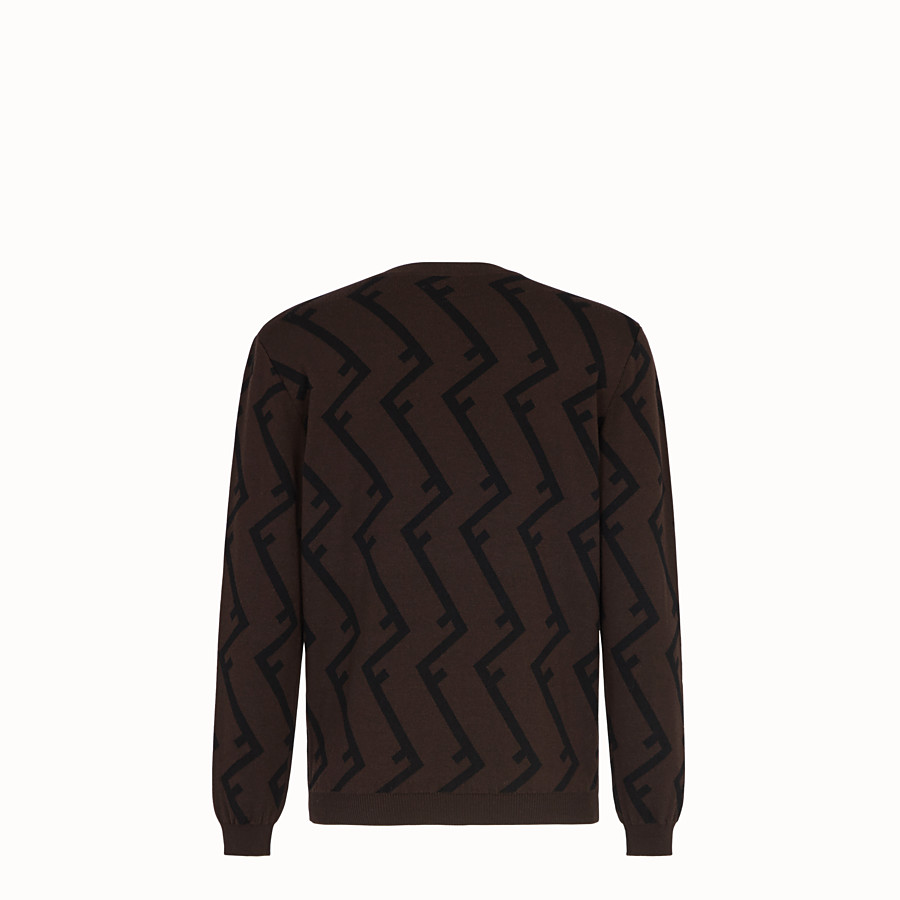 FENDI PULLOVER - Brown wool jumper - view 2 detail
