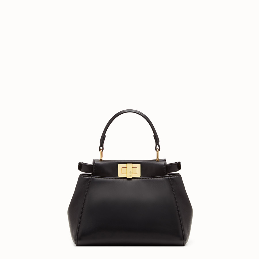 FENDI PEEKABOO XS - Black nappa leather minibag - view 4 detail