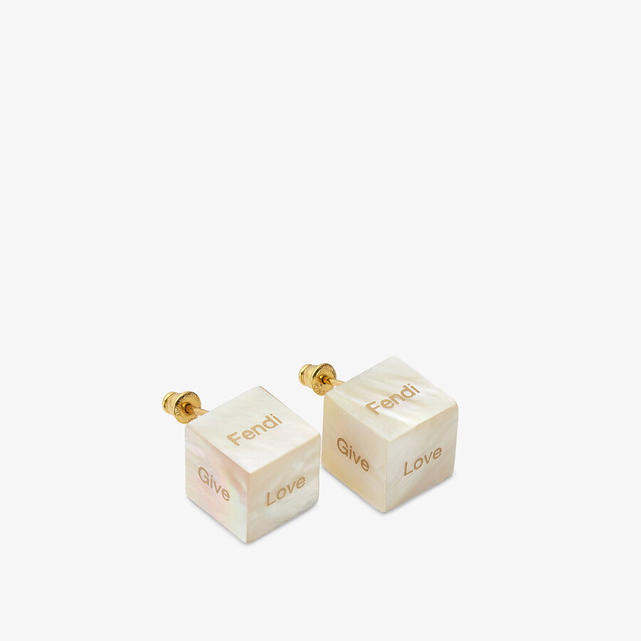 FENDI SIGNATURE EARRINGS - Mother of pearl earrings - view 1 detail