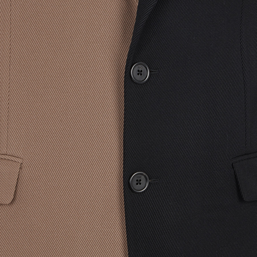 FENDI JACKET - Black gabardine blazer - view 3 detail