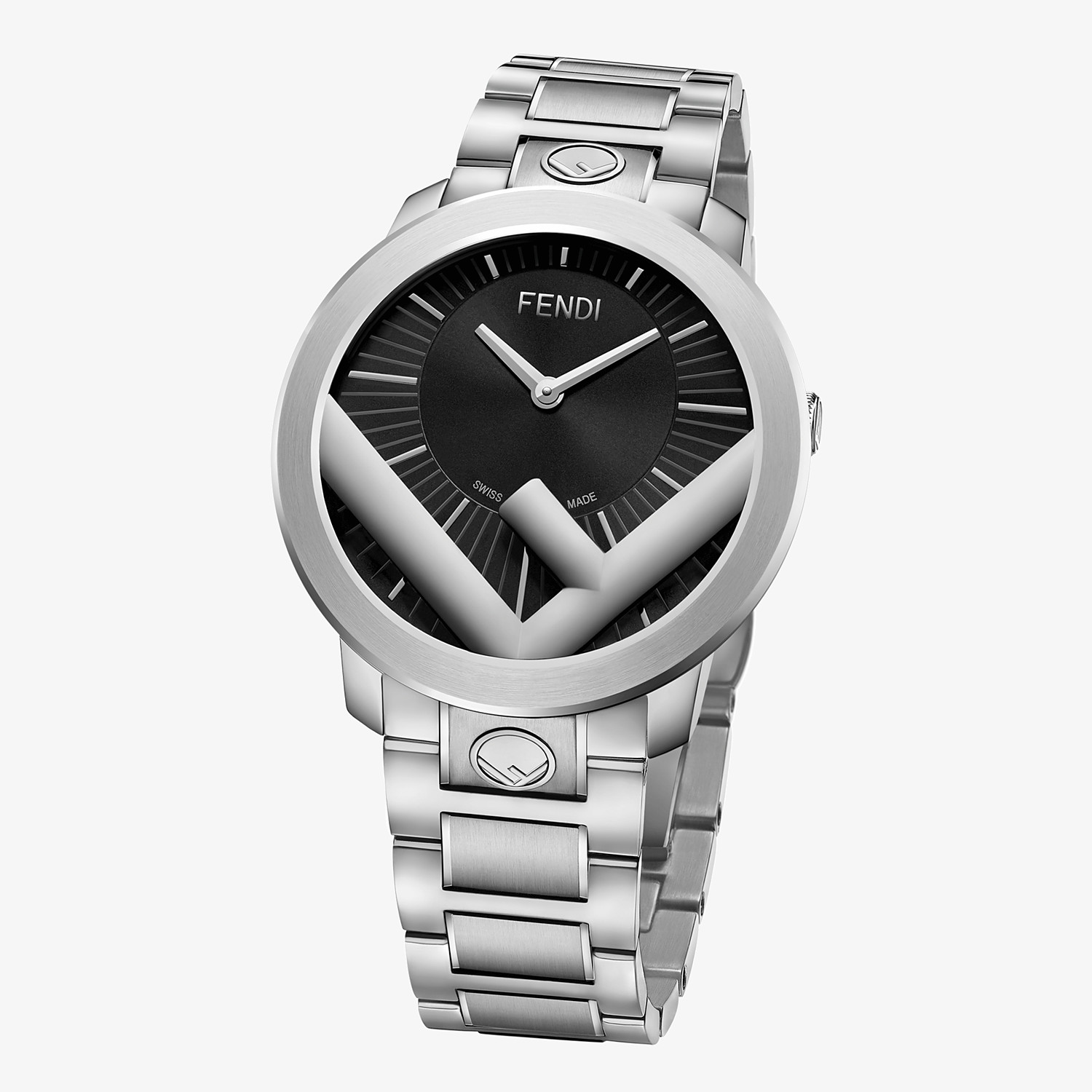 FENDI RUN AWAY - 41 mm (1.6 inch) - Watch with F is Fendi logo - view 2 detail