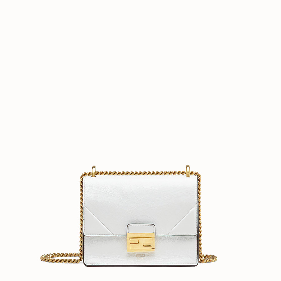 FENDI KAN U SMALL - White leather minibag - view 1 detail