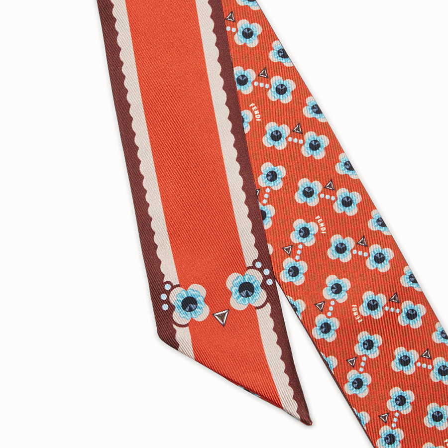 FENDI FENDI FLOWERS WRAPPY - Bandeau in red silk - view 2 detail