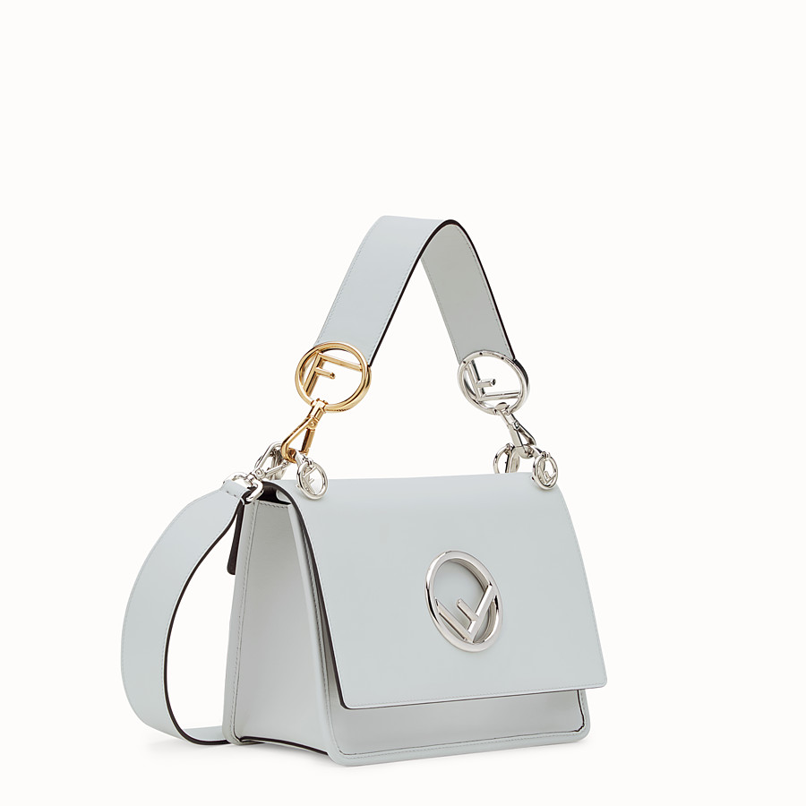 FENDI KAN I LOGO - Grey leather bag - view 2 detail