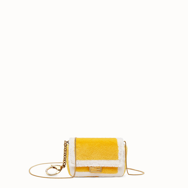 FENDI NANO BAGUETTE CHARM - Yellow mink charm - view 1 small thumbnail
